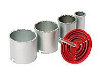 Набор корончатых сверл для плитки 4 ед., 33-73мм, вольфрамовое напыление, Granite MasterTool 2-08-004