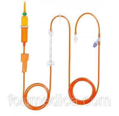 Линия Инфузомат Спейс 250см для светочувствительных препаратов (оранжевая) B.Braun