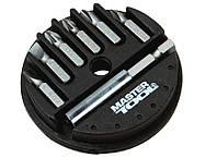 Насадки отвёрточные набор 7 штук с магнитом MasterTool 40-0381
