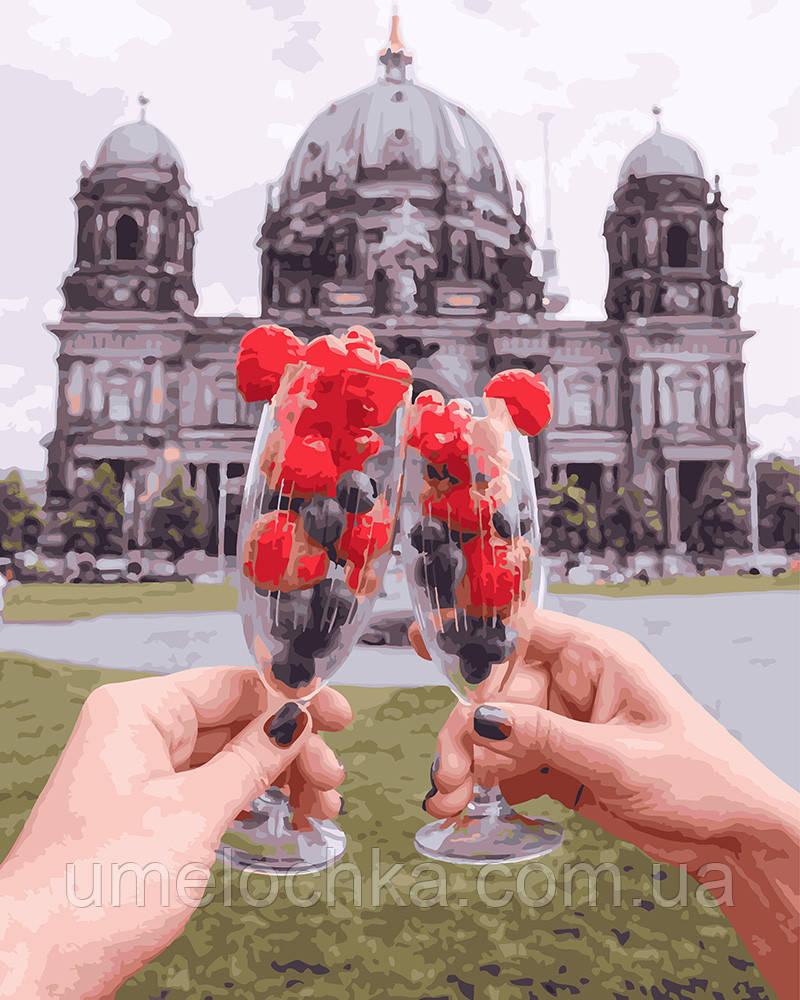 Картина по номерам Ягодный бокал на фоне Берлинского Собора 40 х 50 см (BRM27957)