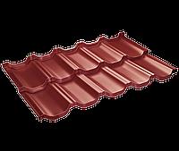 Модульная черепица Venecja / Венеция X-mat коричневый ( SSAB - Щвеция)   Вишневый