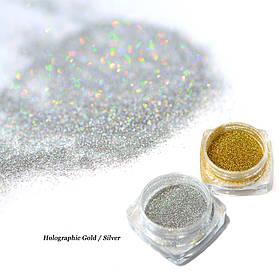 Набор зеркальная пудра золото + хамелеон серебро (2 шт)