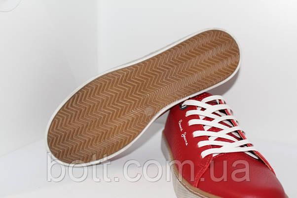 Кеды красные кожаные летние, фото 2