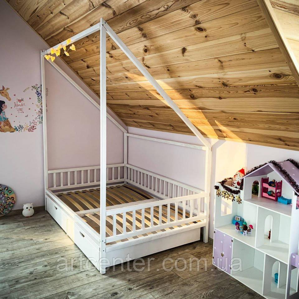 Кроватка индивидуальная с косой крышей