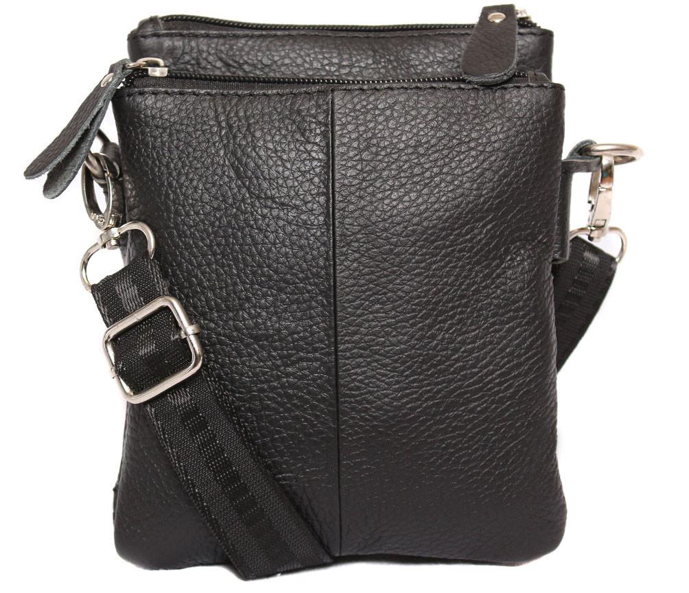 Мужская кожаная сумка Dovhani BL30014131 Черная