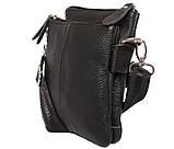 Мужская кожаная сумка Dovhani BL30014131 Черная, фото 2