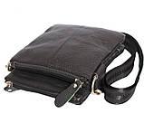 Мужская кожаная сумка Dovhani BL30014131 Черная, фото 4
