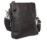 Мужская кожаная сумка Dovhani BL30014131 Черная, фото 5