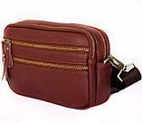 Мужская кожаная сумка Dovhani BL3011832 Рыжая, фото 3