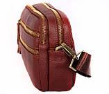 Мужская кожаная сумка Dovhani BL3011832 Рыжая, фото 4