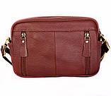 Мужская кожаная сумка Dovhani BL3011832 Рыжая, фото 5