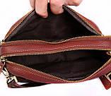 Мужская кожаная сумка Dovhani BL3011832 Рыжая, фото 6