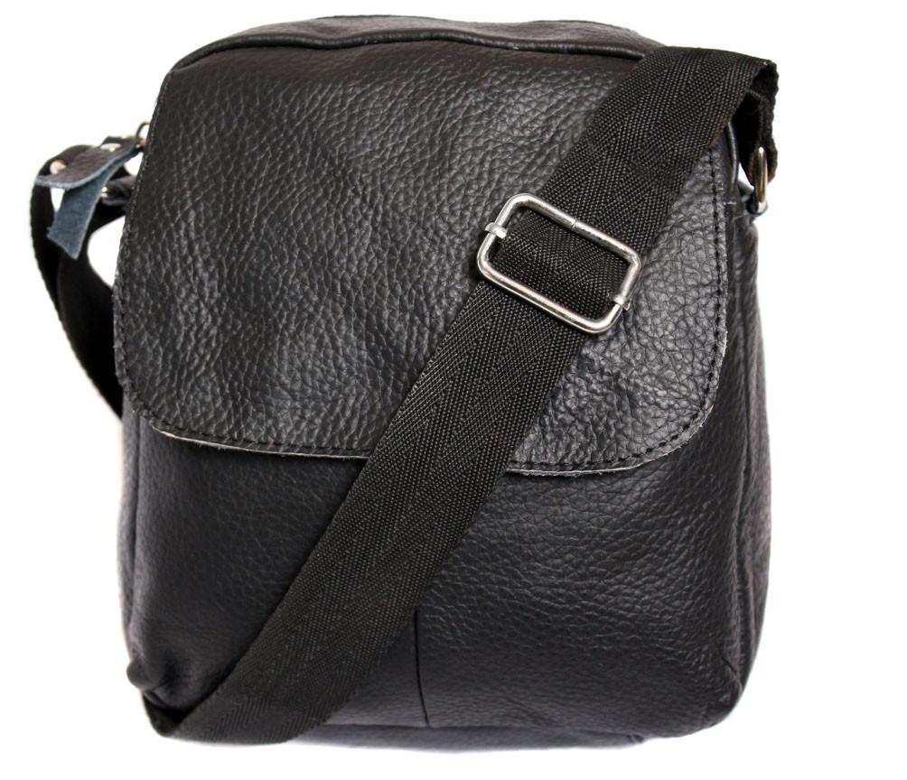 Мужская кожаная сумка Dovhani BL30015436 Черная