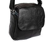 Мужская кожаная сумка Dovhani BL30015436 Черная, фото 6