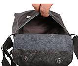 Мужская кожаная сумка Dovhani BL30015436 Черная, фото 9