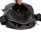 Мужская кожаная сумка Dovhani BL30015436 Черная, фото 10