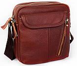 Мужская кожаная сумка Dovhani BL3011439 Рыжая, фото 2
