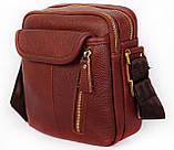 Мужская кожаная сумка Dovhani BL3011439 Рыжая, фото 3