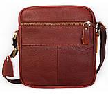 Мужская кожаная сумка Dovhani BL3011439 Рыжая, фото 4