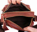 Мужская кожаная сумка Dovhani BL3011439 Рыжая, фото 5