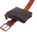 Мужская кожаная сумка Dovhani BL30014241 Черная, фото 7