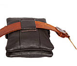 Мужская кожаная сумка Dovhani BL30014241 Черная, фото 8