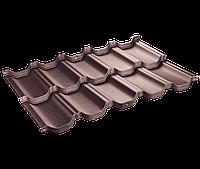 Модульная черепица Venecja / Венеция X-mat коричневый ( SSAB - Щвеция)   D-Matt Коричневый
