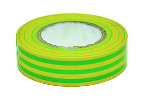 Изолента ПВХ Technics зелено желтая 19 мм х 20 м (10-712)