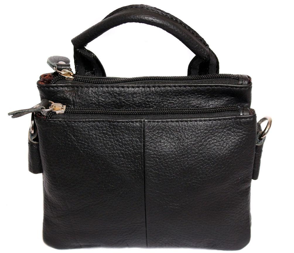 Мужская кожаная сумка Dovhani BL30014345 Черная