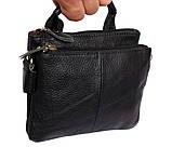 Мужская кожаная сумка Dovhani BL30014345 Черная, фото 4