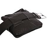 Мужская кожаная сумка Dovhani BL30014345 Черная, фото 6