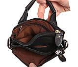 Мужская кожаная сумка Dovhani BL30014345 Черная, фото 7