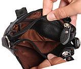 Мужская кожаная сумка Dovhani BL30014345 Черная, фото 8
