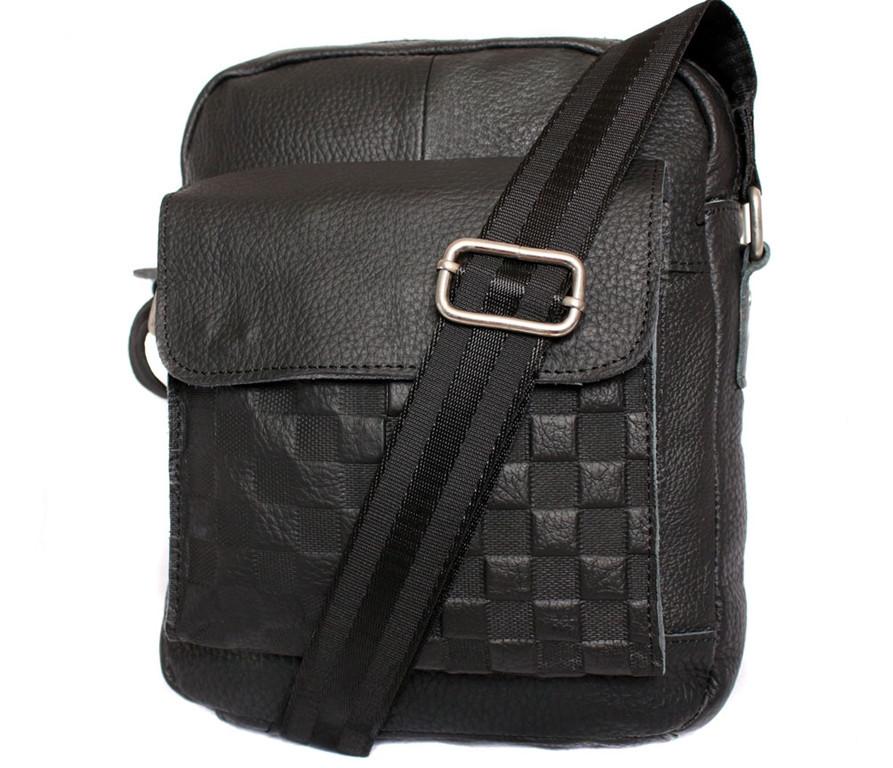 Мужская кожаная сумка Dovhani BL30281746 Черная