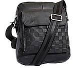 Мужская кожаная сумка Dovhani BL30281746 Черная, фото 2