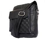 Мужская кожаная сумка Dovhani BL30281746 Черная, фото 3
