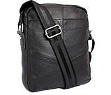 Мужская кожаная сумка Dovhani BL30281746 Черная, фото 4