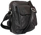 Мужская кожаная сумка Dovhani BL30281746 Черная, фото 6