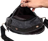Мужская кожаная сумка Dovhani BL30281746 Черная, фото 8