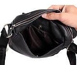 Мужская кожаная сумка Dovhani BL30281746 Черная, фото 9
