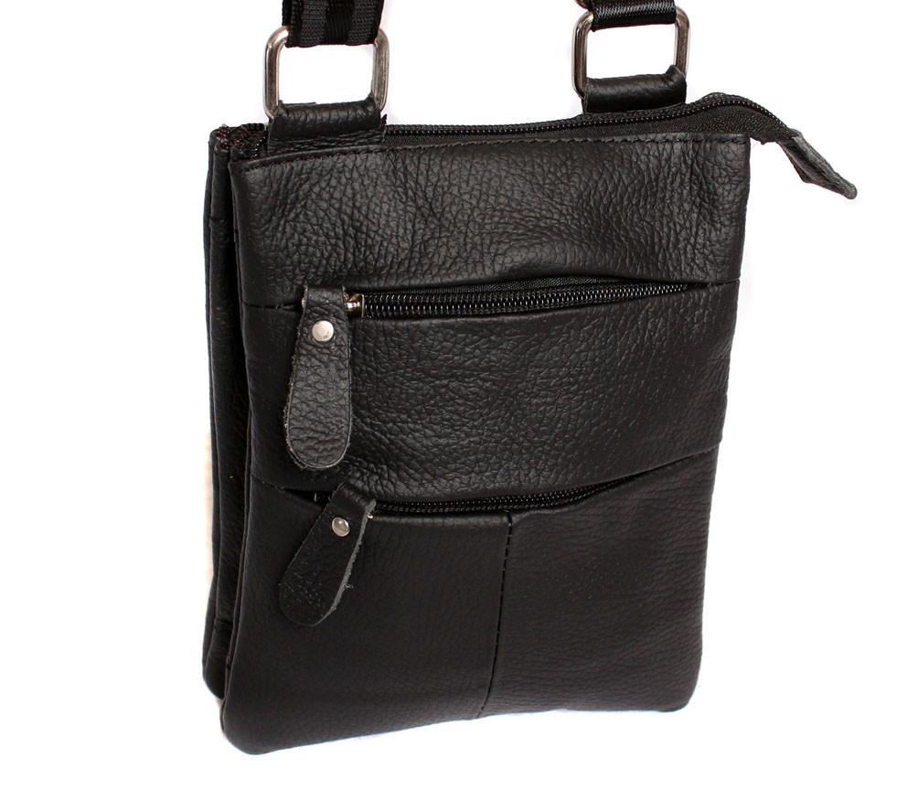 Мужская кожаная сумка Dovhani BL30013350 Черная
