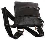 Мужская кожаная сумка Dovhani BL30013350 Черная, фото 2