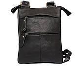 Мужская кожаная сумка Dovhani BL30013350 Черная, фото 3