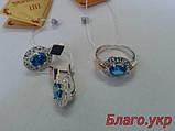 Комплект ЗАР-4 из серебра с золотыми накладками - Серьги и кольцо, фото 4