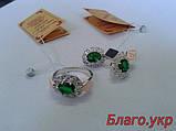 Комплект ЗАР-4 из серебра с золотыми накладками - Серьги и кольцо, фото 8