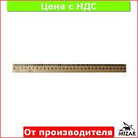 Линейка деревянная 30 см (300 мм) (шелкография) 103009