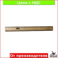 Линейка деревянная 30 см (300 мм) для закройщика (шелкография) 103046