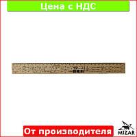 Линейка деревянная 30 см (300 мм) с формулами геометрия (шелкография) 103044