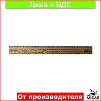 Линейка деревянная 30 см (300 мм) с формулами тригонометрия (шелкография) 103043
