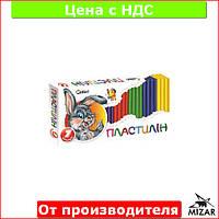 """Пластилин для лепки """"Гавчик и Мурчик"""" 7 цветов (300 гр) для детей (детский) Ц396012У"""